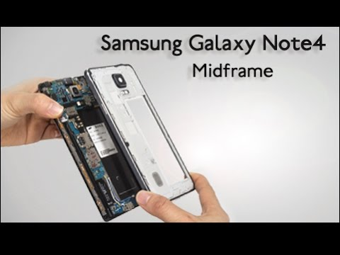 How to separate Note 4 scratched middle frame - disassemble & assemble tutorial?