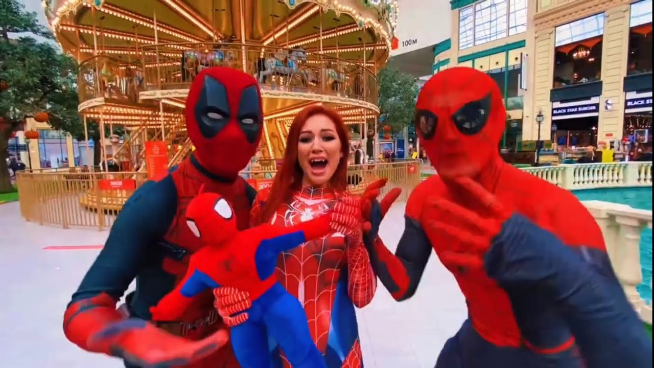 Download Spider-Man And Deadpool Save Mary Jane From The Villain #moscowspider