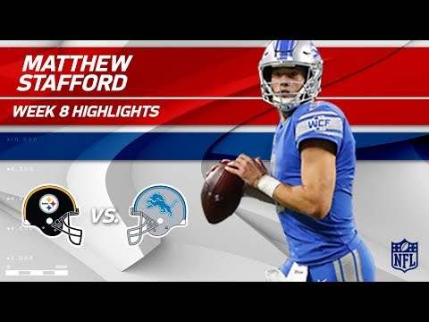 Matthew Stafford Goes Long All Game w/ 423 Yards! | Steelers vs. Lions | Wk 8 Player Highlights