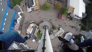 The High Fall + Ansicht Unten Onride - Movie Park Germany