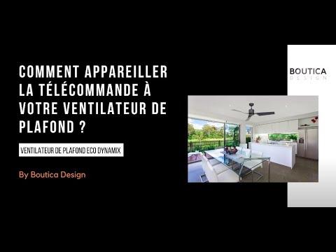 Ventilateur Plafond avec Télécommande Eco Dynamix II 132cm Chromé