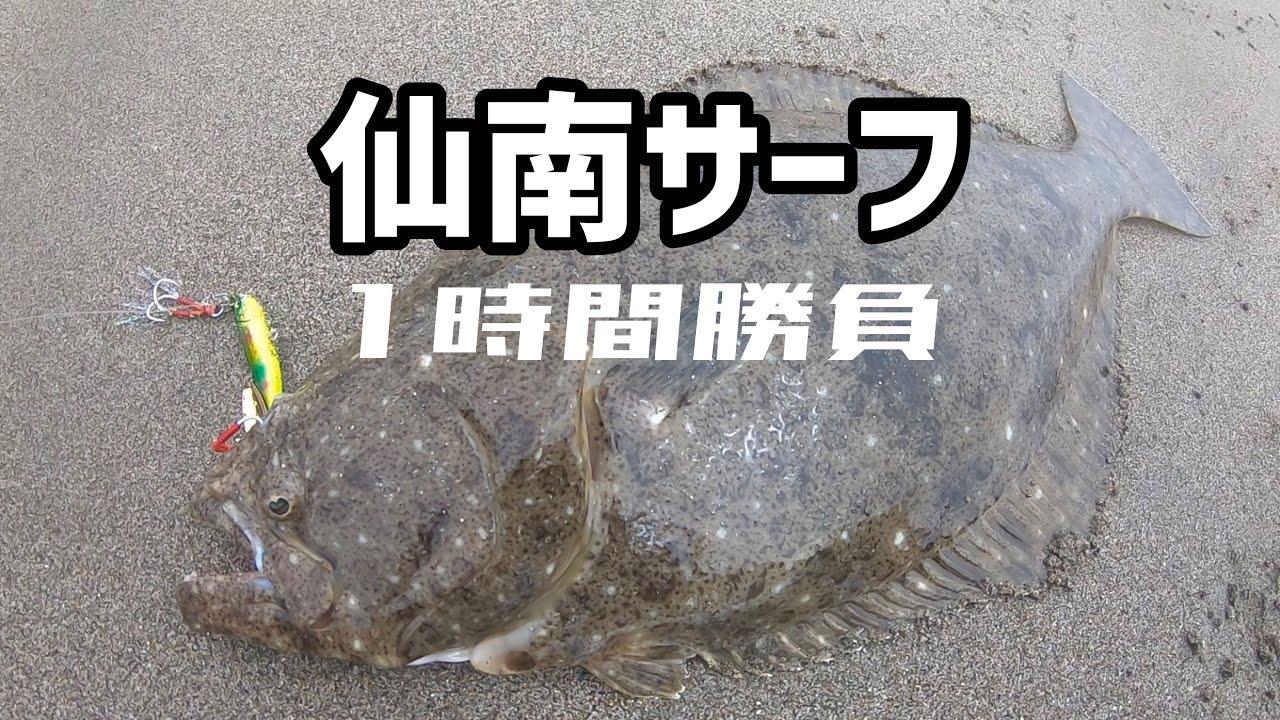 ヒラメ 仙南 サーフ