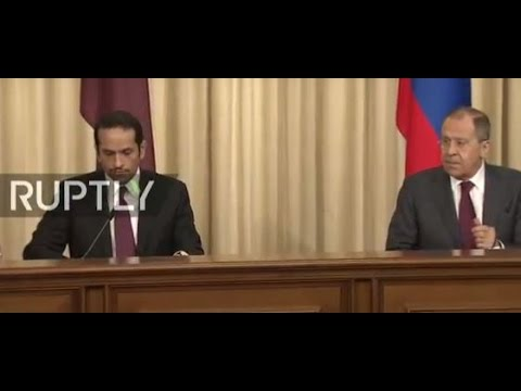 LIVE: Lavrov and Qatari counterpart hold joint press conference in Moscow