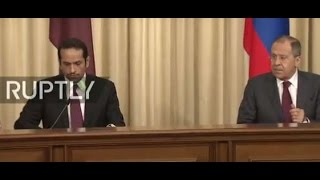LIVE  Lavrov and Qatari counterpart hold joint press conference in Moscow