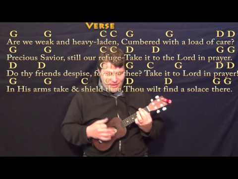 What a friend we have in Jesus Ukulele chords by hymn - Worship Chords