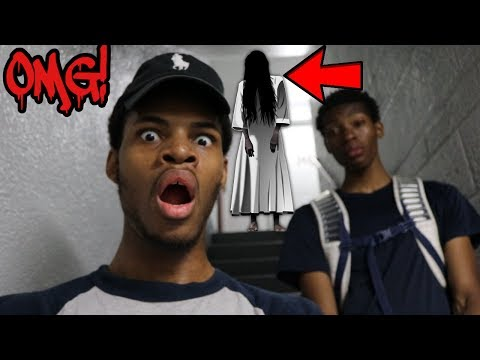 PLAYING THE CREEPY STAIR GAME *WE SEEN THE GIRL*  