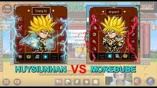 ►Ninja School Online   Trận Lôi Đài Siêu Kinh Điển Giữa HUYSIUNHAN vs MOREBUBE