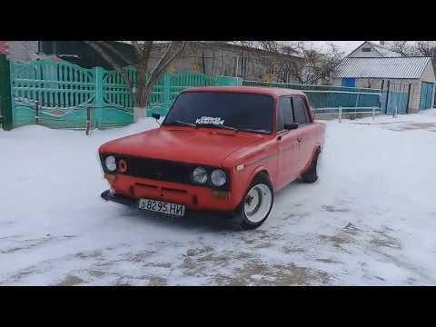 ВАЗ 2106 Зимний Дрифт!!!!! Неплохо повалили боком:)