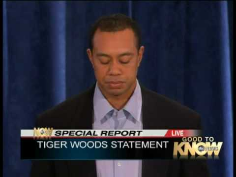 Tiger Woods' Press Conference Apology