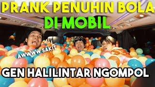 PRANK PENUHIN BOLA di MOBIL Gen Halilintar Sampe Ngompol...