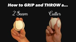 Baseball Grips for Pitching - How to throw a Cutter and 2 seam