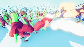Zombies Adapt to the Cold vs Vikings in TABS - Totally Accurate Battle Simulator Mods