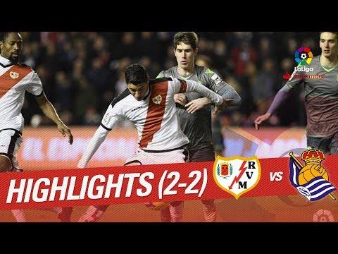 Highlights Rayo Vallecano vs Real Sociedad (2-2)