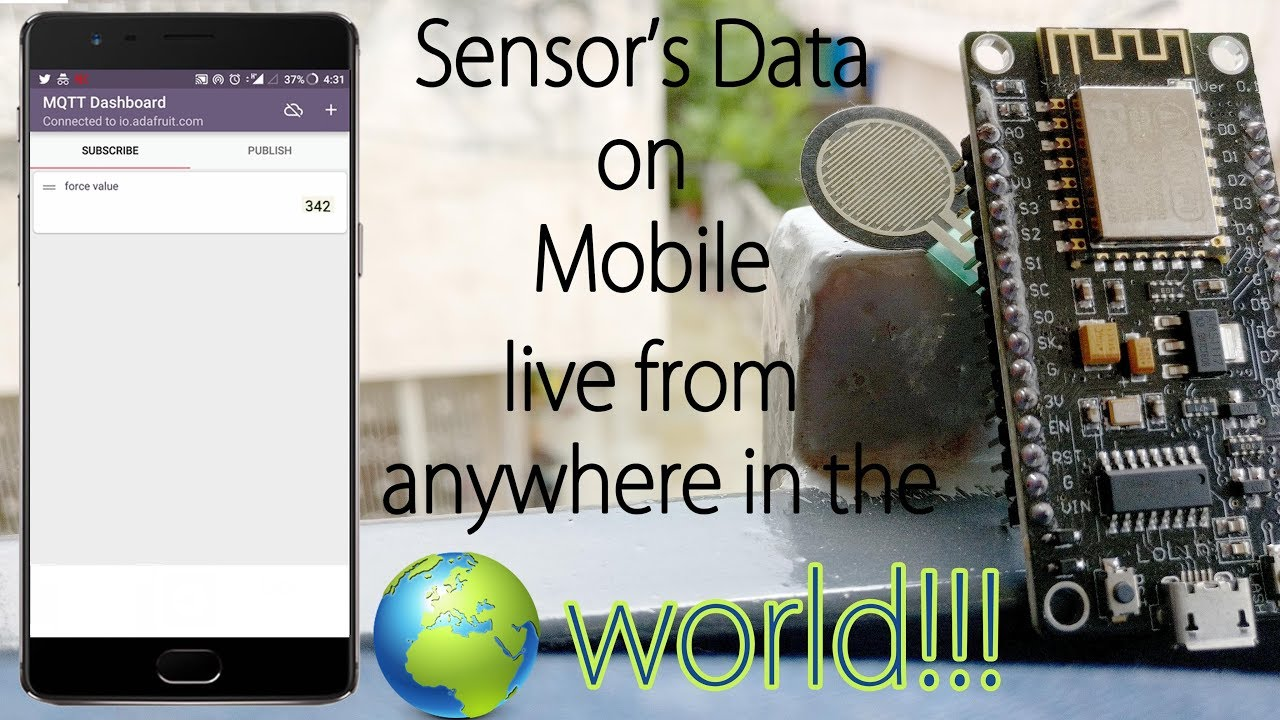 Live monitoring your sensor's value from anywhere in the world using  ESP8266 and Adafruit MQTT