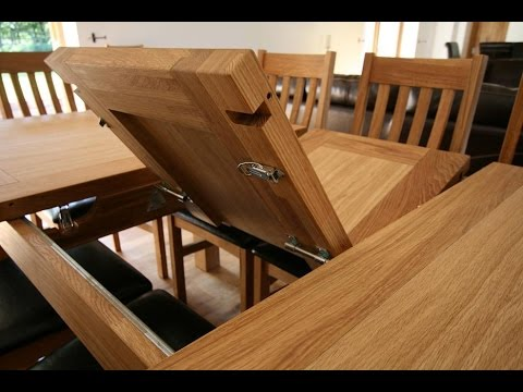Dining Room Table Expandable Entrancing Expandable Dining Room Table  Youtube Review