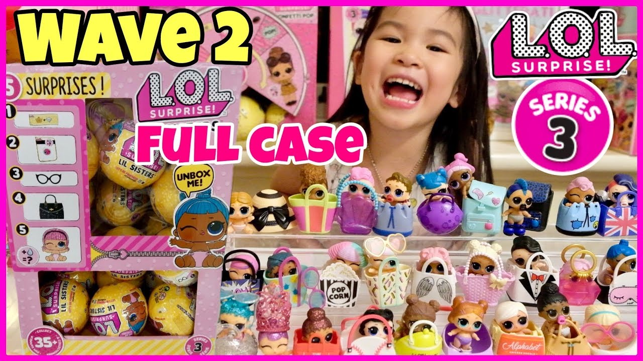 Lol Surprise Series 3 Wave 2 Lil Sisters Full Case Clues Weight