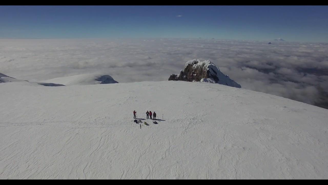Antisana volcano on Skis (One of the highest Takeoff with a Phantom 3Pro?)