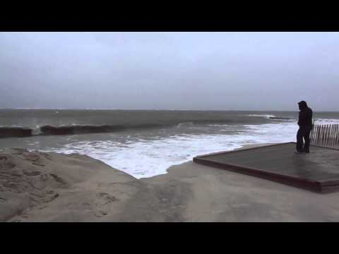On the Beach with Hurricane Sandy, at Point Lookout,NY