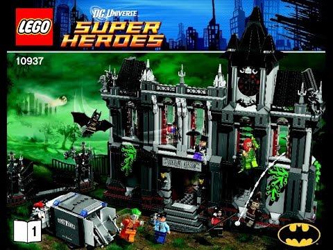 LEGO Batman Superheroes Arkham Asylum Breakout 10937 Instructions DIY Book 1