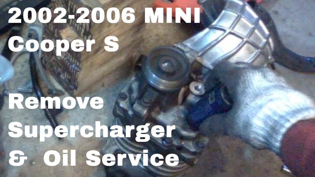 Mini Cooper S Supercharger Removal Oil Service R53 Eaton M45 Youtube 2002 Engine Parts Diagram