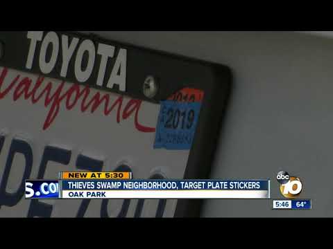 Thieves target license plate sticker