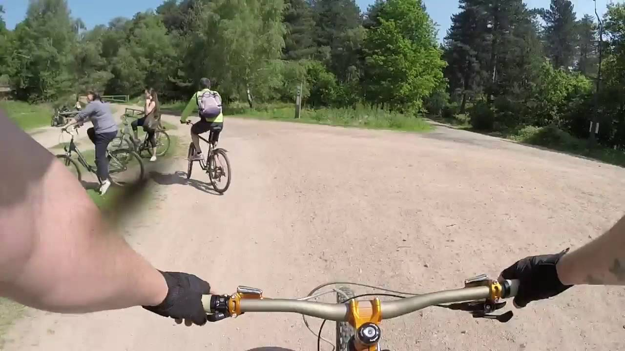 Sherwood Pines, green route then red (Kitchener\'s Trail) on an ...