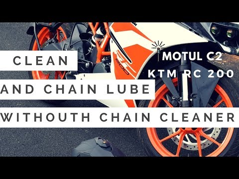 How to lube your chain Without Chain Cleaner?? || KTM RC 200