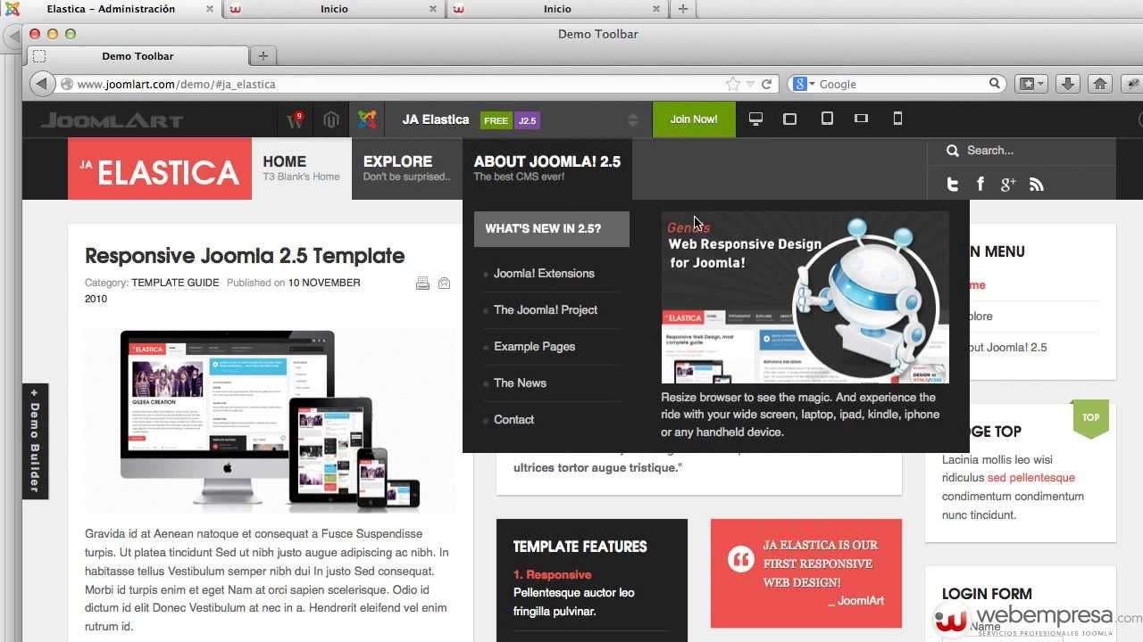 Sitio Web desde Cero Joomla 2.5 - Plantilla Elastica - 2 - YouTube