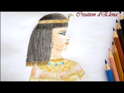 Как нарисовать клеопатру