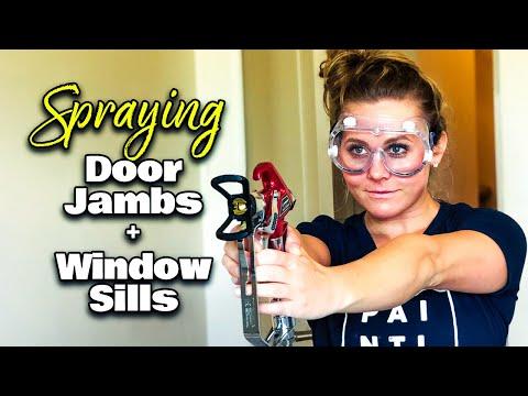 Spray painting exterior window trim