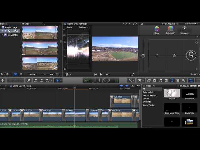 Color Grading with Final Cut X