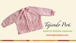 Dos agujas: chaqueta para bebé (Parte 1) - Tejiendo Perú