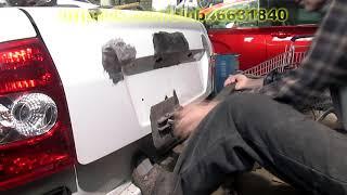 Приора. Ремонт крышки багажника. Кузовной ремонт.