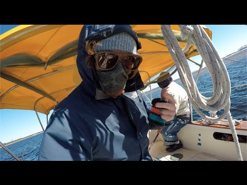 Ripped Main, Malfunctioning Jib and Motor Breakage! New Orleans to Pensacola, FL - Ep. 302 Part 2