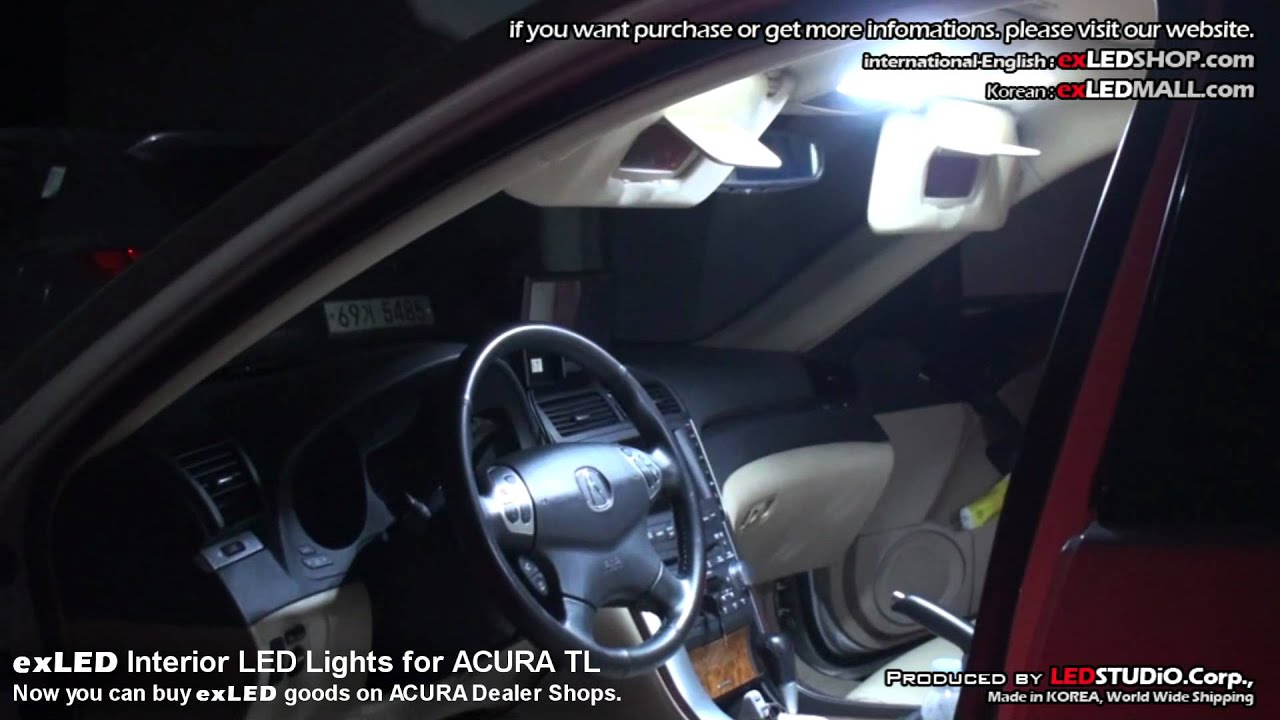 exLED Interior LED Lights for ACURA TL Now you can buy exLED goods on lexus website, nissan website, porsche website, john deere website, land rover website, volkswagen website, infiniti website, honda website, aston martin website,