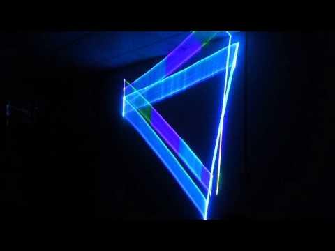 Three-dimensional animation laser