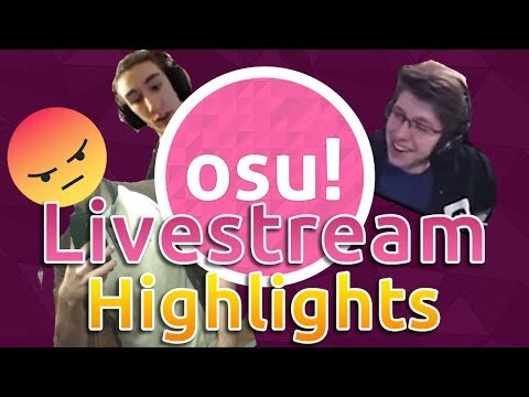 osu! Livestream Highlights | Rafis Mad! Azer breaks the rules!? Bubbleman God Mode!
