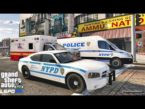 LSPDFR #555 - NYPD HIGHWAY PATROL (GTA 5 REAL LIFE POLICE PC MOD) SLICKTOP CHARGER