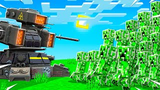 500 CREEPERS vs ROCKET LAUNCHER In MINECRAFT!