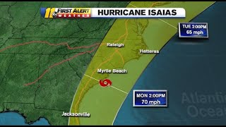Isaias Track: Hurricane Expected To Bring Rain, Gusty Winds To Nc As It Weakens To Tropical Storm