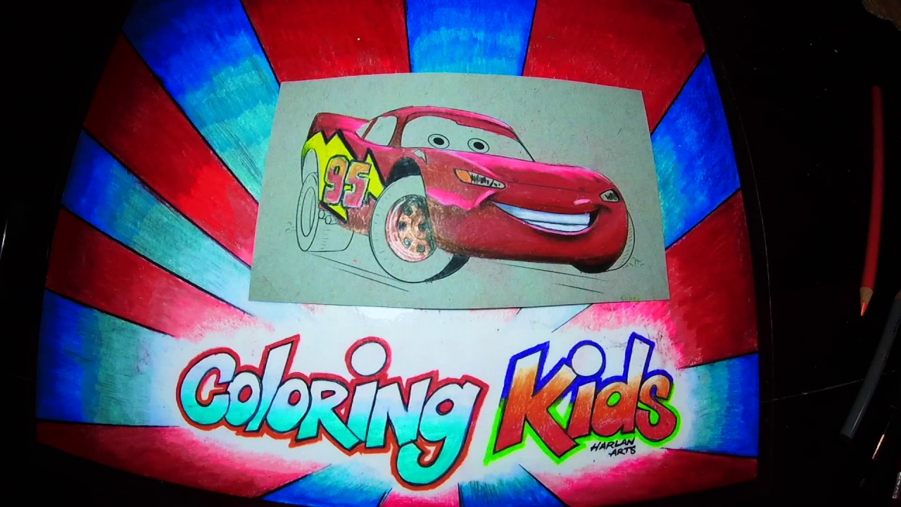 Kinder Kleurplaten Van Disney.Disney Cars Coloring Pages For Kids Learn How To Color With Lightning Mcqueen