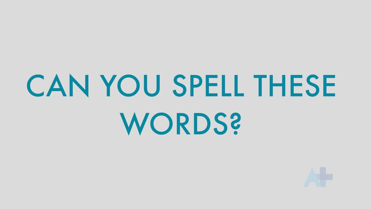 Can you spell these English words? - Australia Plus - YouTube - photo#8