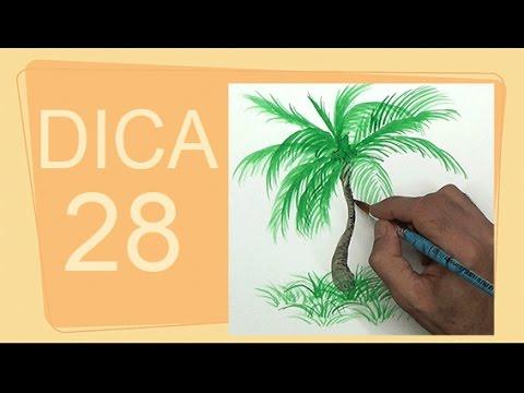 Dica Como Pintar Uma Palmeira Rapidamente Curso De Desenho