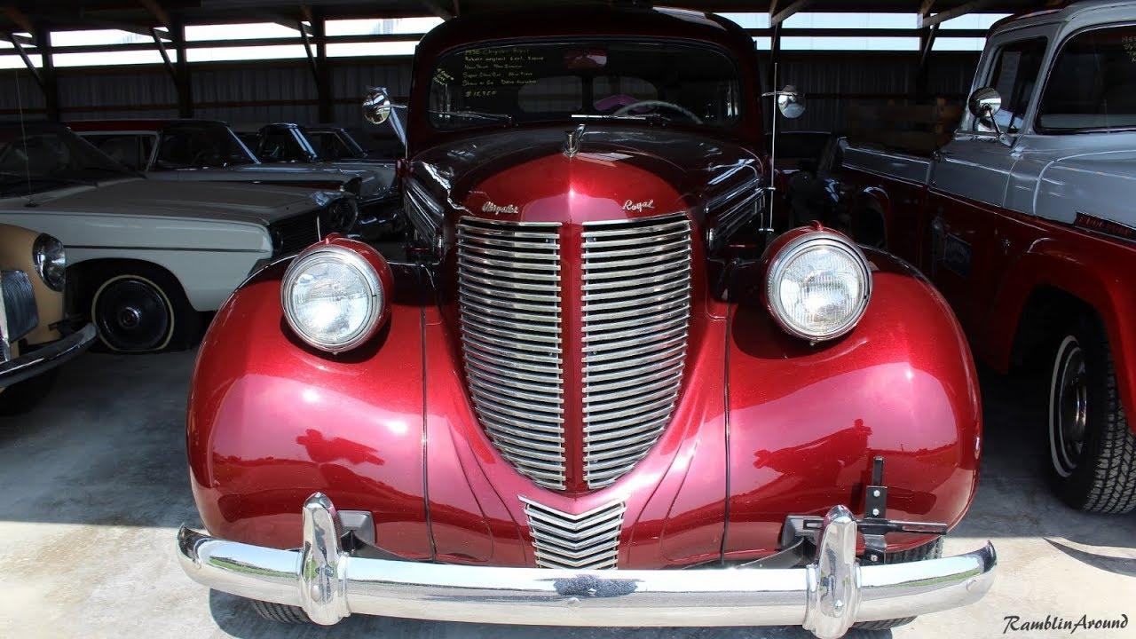 1938 Chrysler Royal Sedan at Country Classic Cars - YouTube