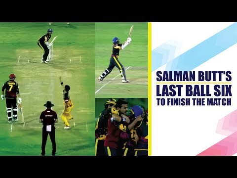 Qatar T10 2019: Salman Butt's incredible last ball six to win the game