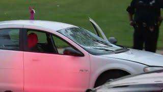 Driver arrested after jumping car over drawbridge on Detroit's west side