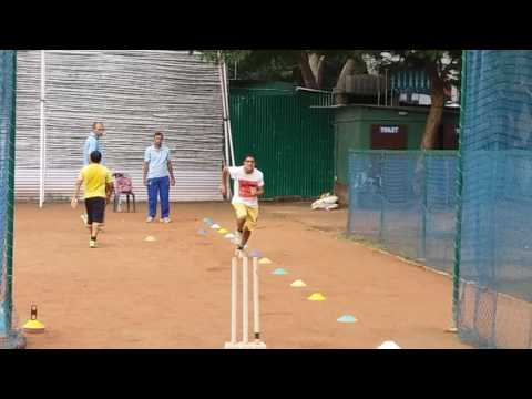 Bowling Drill- Calcutta Cricket Academy, Kolkata, West Bengal, India.