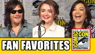 Fan Favorites Comic Con Panel - Maisie Williams, Norman Reedus, Eliza Taylor, Ming-Na Wen