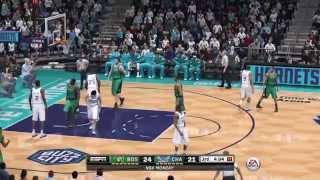 NBA 2015 - Boston Celtics vs Charlotte Hornets - 1st Qrt - NBA LIVE 15 PS4 - HD